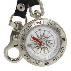 Camping Keychain Portable Compass Survival Compass with Alloy Silver New