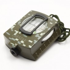 Pocket Military Style Optical Sighting Metal Compass Camouflage Color