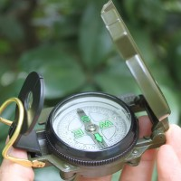 New Metal Military Marching Lensatic Camping Compass
