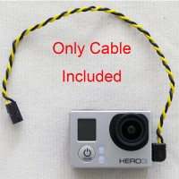 Gopro Hero3 USB 90 Degree Connector to AV Video Realtime Output Cable FPV Hero 3
