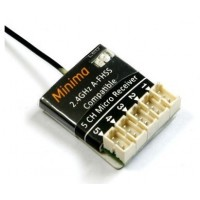 MINIMA A-FHSS Compatible 2.4G 5-Ch Micro Receiver (Hitec compatible) 2.4GHZ 3g