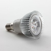 Alu E14 3W LED Spot Light Bulbs Lamp Warm White LED Light AC85-265V 270lm 3000k