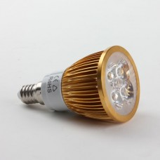 E14 4W LED Spot Light Bulbs Lamp Cool White LED Light AC85-265V 360lm Golden Shell