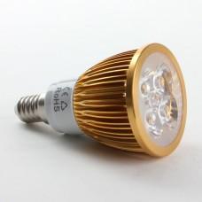 E14 4W LED Spot Light Bulbs Lamp Warm White LED Light AC85-265V 360lm Golden Shell