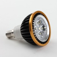 E14 4W PRA20 LED Spot Light Bulbs Lamp Cool White LED Light AC85-265V 360lm Black Shell