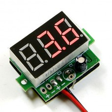 3~30V Small Voltmeter Digital Lithium Battery Tester Red LED DC Voltage Meter