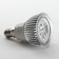 Aluminium Shell E14 3W LED Spot Light Bulbs Lamp Cool White LED Light AC85-265V 270lm 6000k