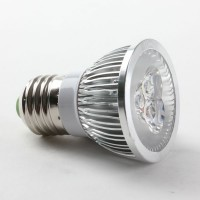 Aluminium Shell E27 3W LED Spot Light Bulbs Lamp Warm White LED Light AC85-265V 270lm 3000k