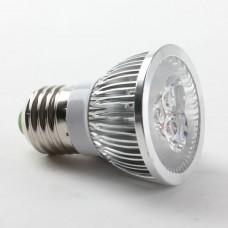 Aluminium Shell E27 3W LED Spot Light Bulbs Lamp Warm White LED Light AC85-265V 270lm 3000k