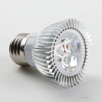 Aluminium Shell E27 3W LED Spot Light Bulbs Lamp Warm White LED Light AC85-265V 270lm 3000k Round