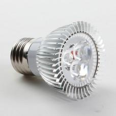 Aluminium Shell E27 3W LED Spot Light Bulbs Lamp Warm White LED Light AC85-265V 270lm 3000k Round