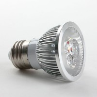 Aluminium Shell E27 6W LED Spot Light Bulbs Lamp Warm White LED Light AC85-265V 460lm 4000k