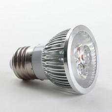 Aluminium Shell E27 6W LED Spot Light Bulbs Lamp Warm White LED Light AC85-265V 460lm 4000k