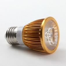 Golden Shell E27 6W LED Spot Light Bulbs Lamp Cool White LED Light AC85-265V 400lm 6000k