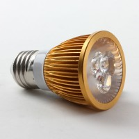 Golden Shell E27 6W LED Spot Light Bulbs Lamp Warm White LED Light AC85-265V 400lm 4000k
