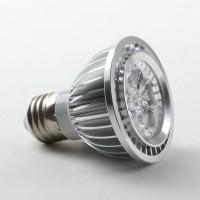 E27 5W PAR20 LED Spot Light Bulbs Lamp Cool White LED Light AC85-265V 460lm Silver Shell