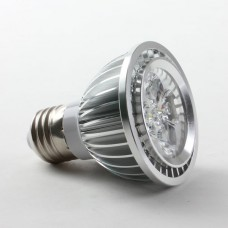 E27 5W PAR20 LED Spot Light Bulbs Lamp Cool White LED Light AC85-265V 460lm Silver Shell