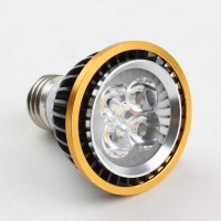 E27 5W PAR20 LED Spot Light Bulbs Lamp Warm White LED Light AC85-265V 460lm Black Shell