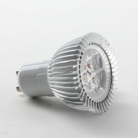 Aluminium Shell GU10 3W LED Spot Light Bulbs Lamp Cool White LED Light AC85-265V 270lm 6000k