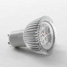Aluminium Shell GU10 3W LED Spot Light Bulbs Lamp Cool White LED Light AC85-265V 270lm 6000k