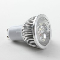 Round GU10 3W LED Spot Light Bulbs Lamp Cool White LED Light AC85-265V 270lm 6000k