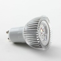 Aluminium Shell GU10 3W LED Spot Light Bulbs Lamp Warm White LED Light AC85-265V 270lm 3000k