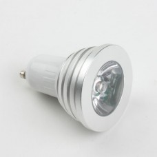 GU10 4W LED Spot Light Bulbs Lamp RGB LED Light AC85-265V 300lm Silver Shell