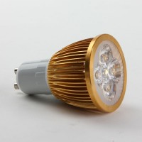 GU10 4W LED Spot Light Bulbs Lamp Warm White LED Light AC85-265V 360lm 3000k Golden Shell