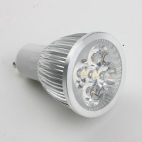 GU10 5W LED Spot Light Bulbs Lamp Warm White LED Light AC85-265V 450lm 3000k Silver Shell