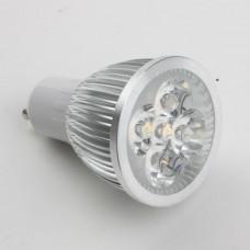 GU10 5W LED Spot Light Bulbs Lamp Warm White LED Light AC85-265V 450lm 3000k Silver Shell