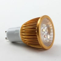 GU10 6W LED Spot Light Bulbs Lamp Cool White LED Light AC85-265V 400lm 6000k Golden Shell