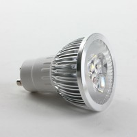 GU10 6W LED Spot Light Bulbs Lamp Warm White LED Light AC85-265V 400lm 3000k Silver Shell