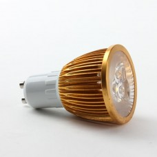 GU10 6W LED Spot Light Bulbs Lamp Warm White LED Light AC85-265V 400lm 3000k Golden Shell