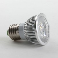 Aluminium Shell E27 3W LED Spot Light Bulbs Lamp Cool White LED Light AC85-265V 270lm 6000k