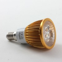 E14 6W LED Spot Light Bulbs Lamp Warm White LED Light AC85-265V 460lm 3000k Golden Shell