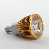 E14 6W LED Spot Light Bulbs Lamp Cool White LED Light AC85-265V 460lm 6000k Golden Shell