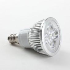 E14 4W LED Spot Light Bulbs Lamp Cool White LED Light AC85-265V 360lm 6000k Round