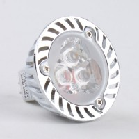 Mr16 3W LED Spot Light Bulbs Lamp Warm White LED Light AC/DC 12V 270lm 3000k Alu