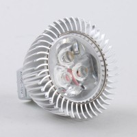 Mr16 3W LED Spot Light Bulbs Lamp Warm White LED Light AC/DC 12V 270lm 3000k Silver Shell