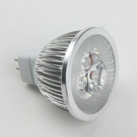 Mr16 3W LED Spot Light Bulbs Lamp Cool White LED Light AC/DC 12V 270lm 6000k Silver Shell