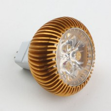 Mr16 3W LED Spot Light Bulbs Lamp Warm White LED Light AC/DC 12V 270lm 3000k Golden Shell