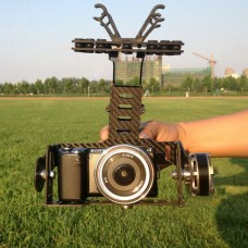FPVKing Dual-Axis FPV Brushless Camera Gimbal Aerial Photography w/ Anti-Vibration Rubber for Mini DSLR FPV Camera