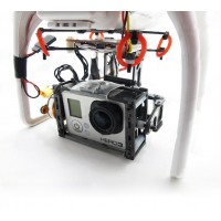 Gopro 3 Carbon fiber Brushless Camera Gimbal Direct Drive FPV Camera Mount Multicopter Photography