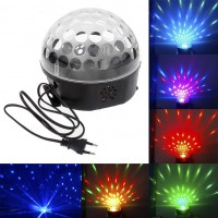 Sound Control Disco DJ Stage Lighting Digital LED RGB Crystal Ball Effect Light
