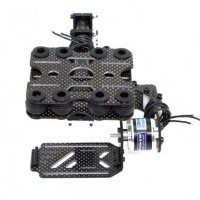 GoPro FPV Brushless Gimbal 2-axis Carbon Fiber Brushless Camera Gimbal PTZ Aerial Photography