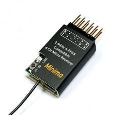 MINIMA A-FHSS 2.4G 4 Channel Micro Receiver (Hitec Compatible)