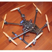 FT-680 Carbon Fiber Hexacopter Alien Spider-Type FPV Hexacopter Multicopter Frame Kit w/Landing Skid
