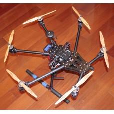 FT-680 Carbon Fiber Hexacopter Alien Spider-Type FPV Hexacopter Multicopter Frame Kit w/Landing Skid