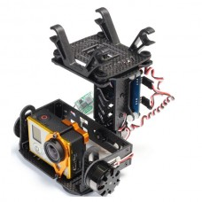 AX-2208 Shock-Absorbing Brushless Gimbal Two Axis Carbon Fiber Aerial Photography Camera PTZ for Gopro 3