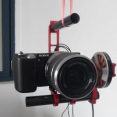 FPV Aluminium Brushless Motor Camera Mount Gimbal PTZ (with Motors) for 5N DSLR Camera Aerial Photography
